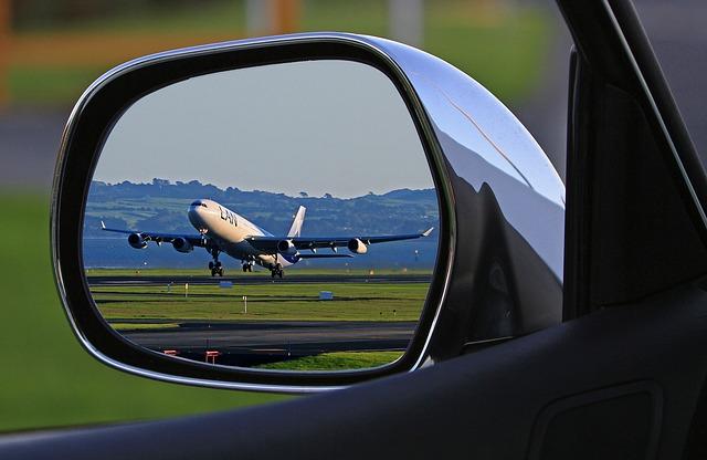 letadlo v zrcátku