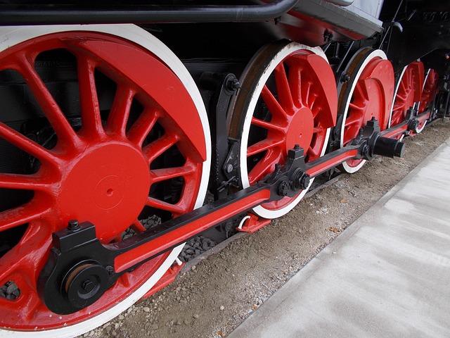 detail červených kol