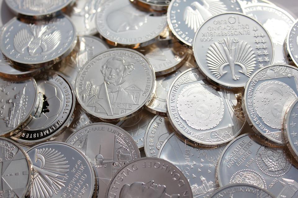 stříbrná eura